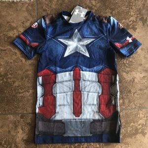New Captain America Under Armour t shirt